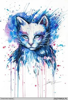 Damn, that is one beautiful cat painting.