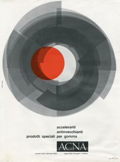 Paigna pubblicitaria per ACNA (1962); Design by Bob Noorda