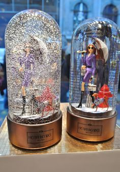 snowing @ Henri Bendel - my 4 year has 2 of these Christmas Globes, Christmas Home, Snow Globes, I Love Snow, Let It Snow, Globe Art, Water Globes, Glass Domes, Snowball