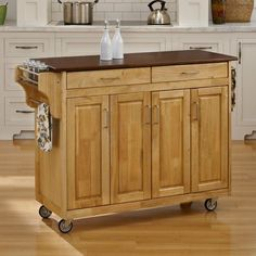 Home Styles Large Create-a-Cart Kitchen Island Cherry - 9200-1067G