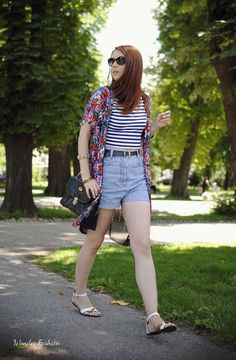 #summer #floral #denim #stripes #floral #looks #casual