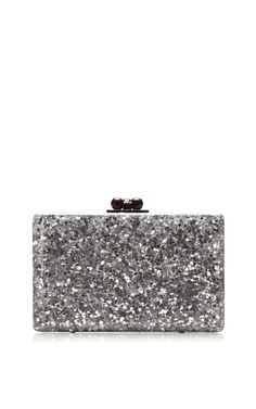 Minnie Silver Star Clutch by Edie Parker for Preorder on Moda Operandi