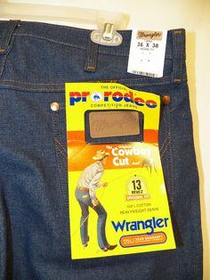 VTG NWT Wrangler Jeans 36x38 Tall Blue Denim Cowboy Cut Men Org Fit Heavyweight #Wrangler #ClassicStraightLeg