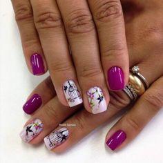 Unha Decorada Roxas +de 70 Ideias e Modelos em Roxo pra você escolher! Spring Nail Art, Spring Nails, Summer Nails, Colorful Nail Designs, Nail Art Designs, Finger, Animal Nail Art, Vernis Semi Permanent, Flower Nails