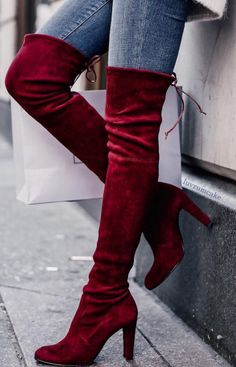 Cranberry Suede Boots