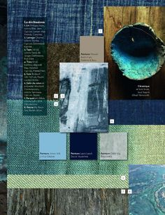 blue green color palette  #moodboard
