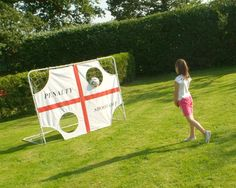 Penalty shoot out game perfect for young football fans. Penalty Shoot Out, Penalty Shot, Color Box, Football Fans, Sports Equipment, Paper Shopping Bag, Goals, Garden, Fitness