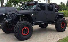 jeep wrangler jk Jeep Jk, Jeep Truck, Jeep Wrangler Rubicon, Jeep Wrangler Unlimited, Badass Jeep, Black Jeep, Custom Jeep, Cool Jeeps, Jeep Accessories