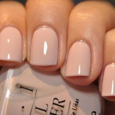 Get perfect wedding nails with OPI nude.
