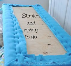 Back of headboard stapled and ready to go | OrganizingMadeFun.com