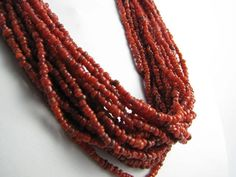 Cranberry Multistrand Beaded Necklace by Suwanee on Etsy, $28.00