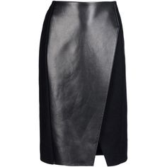 NEIL BARRETT Knee length skirt (5 660 UAH) ❤ liked on Polyvore featuring skirts, bottoms, black, knee length skirts, tube skirt, neil barrett, flannel skirts and knee high skirts