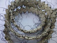 Lynda Watts: Stitch Textile Artists - You Must Do Fine Art Textiles, Textile Fiber Art, Textile Artists, Sculpture Textile, Sculpture Art, Collage Making, Recycled Art, Fabric Art, Land Art