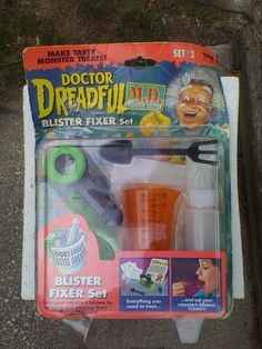 Rare Doctor Dreadful MD Blister Fixer Set #2 Monster Treats In Package 1996 Tyco