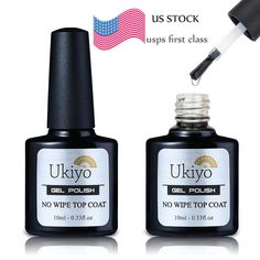 Ukiyo 10ml No Wipe Top Coat for Soak Off UV Gel Nail Polish Gelpolish Base Coat #Ukiyo