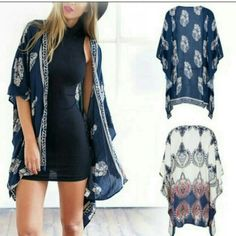 $30 Sale- KEILA Kimono Vintage Leaf Scarf Cardigan Going out for the day, but don't want to be too warm, then this boho style kimono cardigan is just the thing you need! Great for a beach cover up or a day out with your friends!   Rough Measurement: bust 45, length 28 Comment for price drop Sweaters Cardigans