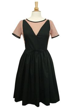 Valentina dress- black & blush | Swonderful Boutique