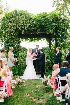 #canopy, #arch  Photography: Mirelle Carmichael Photography - mirellecarmichael.com  Read More: http://www.stylemepretty.com/2014/09/18/charming-santa-barbara-estate-wedding/