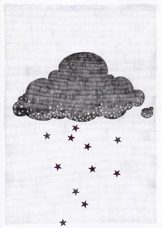 awwwh cute little cloud #cloud #stars