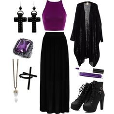 Witchy by rickiex on Polyvore featuring Hallhuber, Tarina Tarantino, Emi Jewellery, Givenchy and Anastasia Beverly Hills