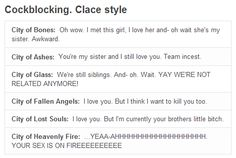 just explaining clary and jace's relationship to the rest on the nontmifandom world