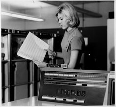 It}s nearly midnight and the Univac is about to compute.