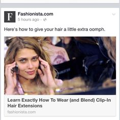 Great tutorial on clipping in for short hair  #shorthair #clipinextensions #tutorial #hairextensions #beautytips http://fashionista.com/2014/06/hair-extensions-clip-in-how-to