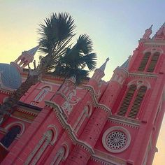 for those that follow my personal insta, you know I lived in Sài Gòn, Việt Nam for 5 months studying abroad  everything is so colorful and beautiful there and I miss it a lot  this is one of my favorite buildings for obvious reasons, Tân Định Church, that I would visit on the way home from my favorite fabric market  if the postal system was better so that I could make my Etsy work successfully from there, I'd love to live there longer  #saigon #vietnam #pink