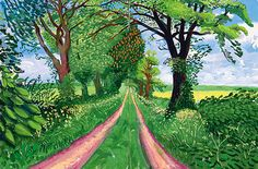 Late Spring Tunnel, May 2006 by David Hockney. This tunnel is a farm track near Kilham in East Riding, England. I this painting, Hockney captures the infinity of nature.