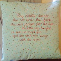 Hey Diddle Diddle Pillow. £22.00, via Etsy.