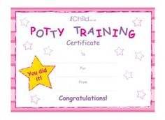Potty Training Certificate - Girls Certificate preview