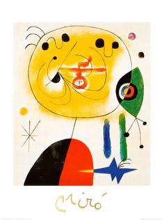 Et Fixe Les Cheveux d'une Etoile  Joan Miró