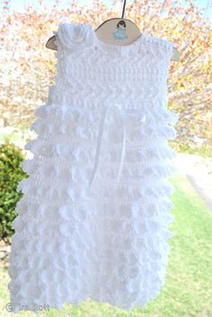 Free Crochet Christening Gown | Christening Gown Baby Dress, Booties, Beret and Bonnet Crochet Pattern ...