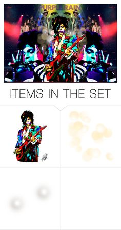 """Prince & The Revolution"" by thenycbaglady ❤ liked on Polyvore featuring art"