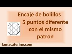 Encaje de bolillos: Mismo picado diferentes puntos por bolillotuber lamacaterine - YouTube Bobbin Lacemaking, Casual Tops For Women, Youtube, Knitting, Sewing, Crochet, How To Make, Bobbin Lace, Cakes