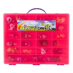 Littlest Pet Shop Compatible Organizer Pink/Strawberry- Fun for LifeTM is Pefect Compatible Storage Case for LPS- Fits up to 60 Characters * This is an Amazon Affiliate link. Want additional info? Click on the image.