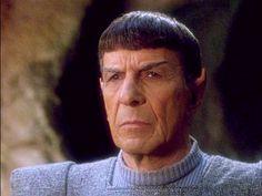 """Star Trek-TNG, """"Unification""""; Leonard Nimoy returns as Spock."""