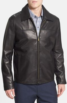 Cole Haan Lambskin Leather Jacket (Online Only) available at #Nordstrom
