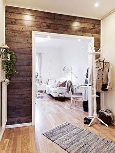 Деревянная стена в интерьере — советы по созданию эко-стиля (38 фото)   Элементы интерьера   DecorWind.ru