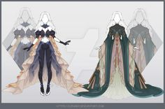 [Close] Design by Lonary on DeviantArt Character Outfits, Character Art, Character Design, Dress Drawing, Drawing Clothes, Fantasy Inspiration, Character Inspiration, Anime Outfits, Cute Outfits
