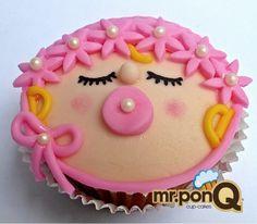 Mr.ponQ cup-cake bebe niña para anunciar el nacimiento dr una princesa