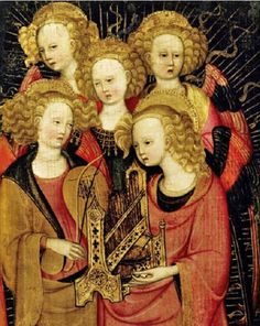 Stefano da Verona, Angel Musicians, detail