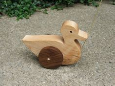 Waddling Duck Wooden Pull Toy - A Classic Toy For Toddlers