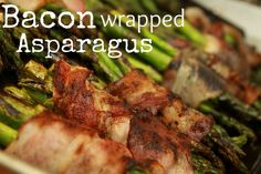 Delicious and easy, these bacon wrapped asparagus bundles make a perfect side dish or appetizer!
