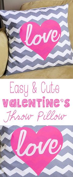 Valentine Throw Pillows-Crazy Little Projects