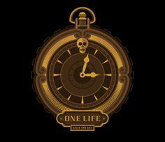 Igor Duibanov, designer russo, desenvolveu a identidade visual de uma marca de streetwear, que ele chamou de One Life.