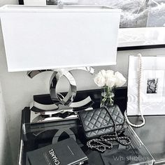 Home Decor. COCO lamp: Sophie Glow Vanity  Chanel bag (vintage)  Home Decor. Home Decor. Home Decor #HomeDecor Beautiful Homes of Instagram @whistiques