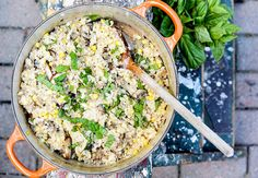 Baked Corn, Mushroom and Sausage Risotto   25 One-Dish Meal Ideas That Aren't Pasta