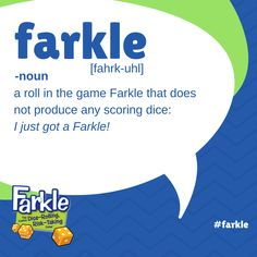 Become a Farkle fanatic with this Classic Dice-Rolling, Risk-Taking Game™. Take a risk, and keep rolling to build your score. Or play it safe so you don't lose your points in a Farkle. It's a fight to the finish in this fabulously fun game of strategy and luck! Dice Games, Fun Games, Take Risks, Losing You, Scores, How To Become, It Is Finished, Play, Classic