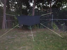 Amok hammock set up for a nice nice out at Camp Smith, NY